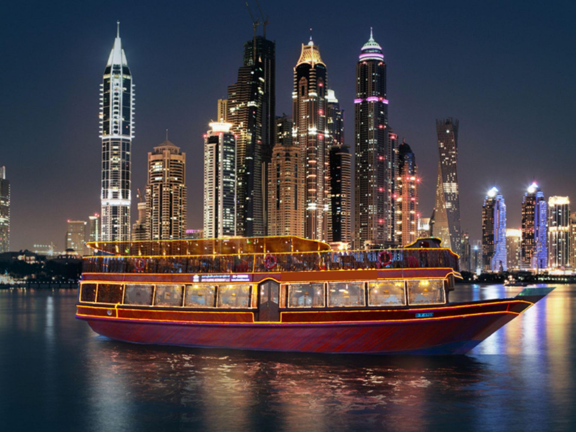 Experience Dhow Cruise Delicious Dinner With Entertainment At Dubai Marina - NAHT